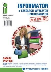 Okładka książki Informator o szkołach wyższych i policealnych 2010/2011.