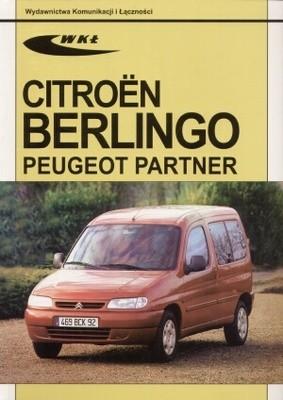 Okładka książki Citroen Berlingo, Peugeot Partner modele 1996-2001