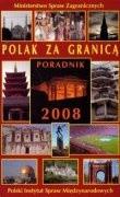 Okładka książki Polak za granicą. Poradnik 2008
