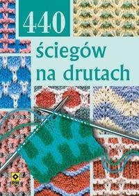 Okładka książki 440 ściegów na drutach