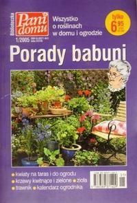 Okładka książki Porady babuni. Tom VI. Wszystko o roślinach w domu i ogrodzie