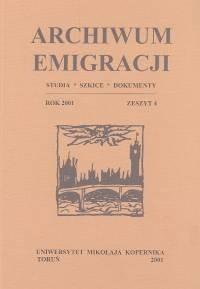 Okładka książki Archiwum Emigracji T. 4