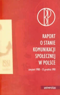 Okładka książki Raport o stanie komunikacji społecznej w Polsce