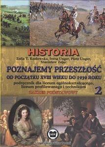 Okładka książki Poznajemy przeszłość. Część 2. Historia. zakres podstawowy. Od XVIII do 1939 r