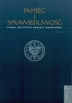 Okładka książki Pamięć i sprawiedliwość. Nr 2(4) 2003