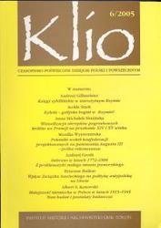 Okładka książki Klio. Czasopismo poświęcone dziejom Polski i powszechnym 6/2005