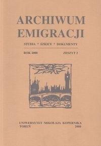 Okładka książki Archiwum Emigracji tom 3