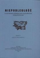 Okładka książki Niepodległość. Czasopismo poświęcone najnowszym dziejom Polski. Tom LV