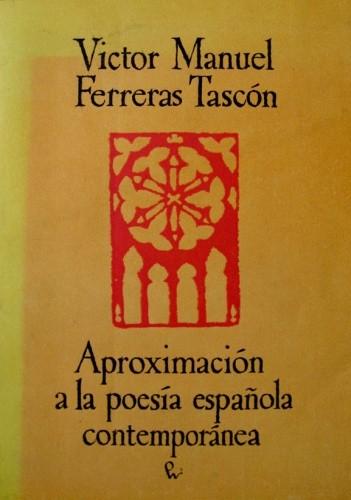 Okładka książki Aproximación a la poesía española contemporánea