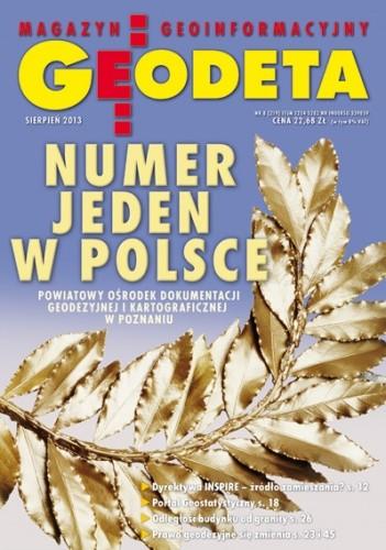 Okładka książki Geodeta. Magazyn geoinformacyjny, nr 8 (219)/2013