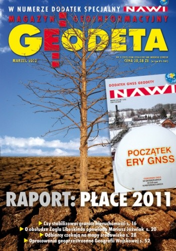 Okładka książki Geodeta. Magazyn geoinformacyjny, nr 3 (202)/2012