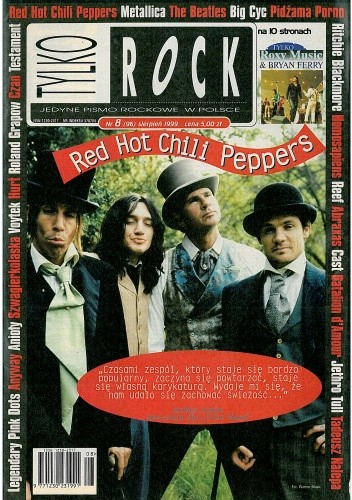 Okładka książki Tylko Rock, nr 8 (96)/1999