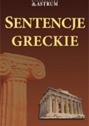Okładka książki Sentencje greckie