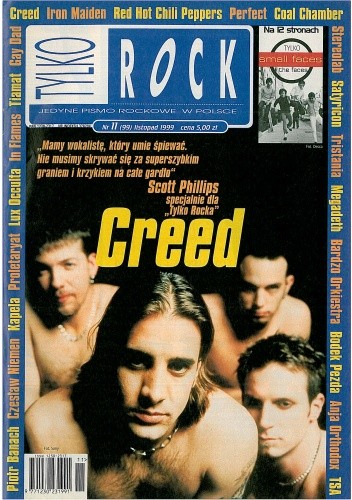 Okładka książki Tylko Rock, nr 11 (99)/1999