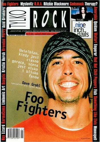 Okładka książki Tylko Rock, nr 1 (101)/2000