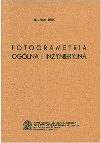 Okładka książki Fotogrametria ogólna i inżynieryjna