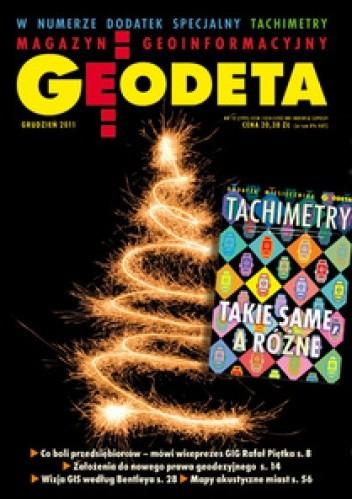 Okładka książki Geodeta. Magazyn geoinformacyjny, nr 12 (199)/2011