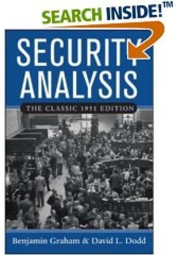 Okładka książki Security Analysis