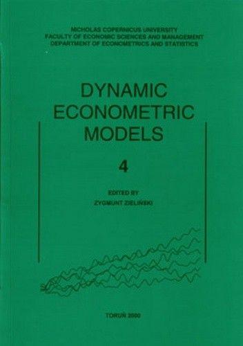 Okładka książki Dynamic Econometric Models. Tom 4