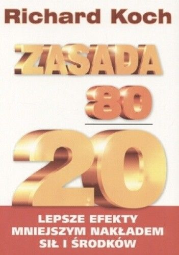Okładka książki Zasada 80/20