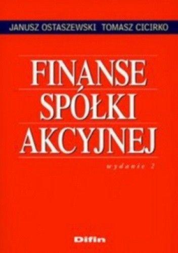 Okładka książki Finanse spółki akcyjnej