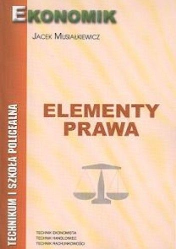 Okładka książki Elementy prawa