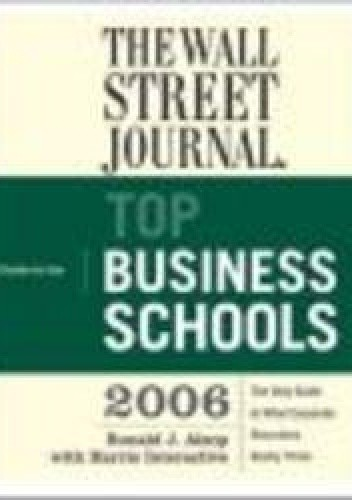 Okładka książki Wall Street Journal Guide to the Top Business Schools