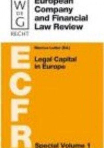 Okładka książki Legal Capital in Europe