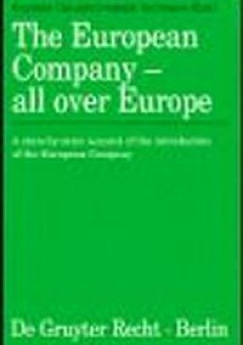 Okładka książki European Company All Over Europe