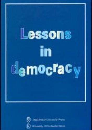 Okładka książki Lessons in democracy (wydanie anglojęzyczne)