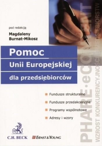 Okładka książki Pomoc Unii Europejskiej dla przedsiębiorców