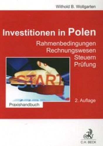 Okładka książki Investitionen in Polen (wydanie niemickojęzyczne)