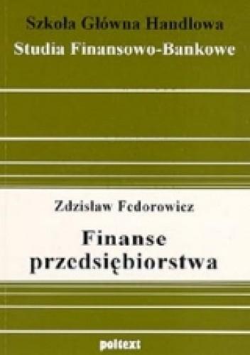 Okładka książki Finanse przedsiębiorstwa