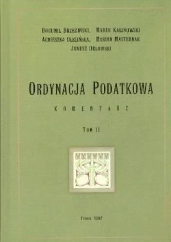 Okładka książki Ordynacja podatkowa Komentarz T.2