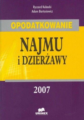Okładka książki Opodatkowanie najmu i dzierżawy 2008