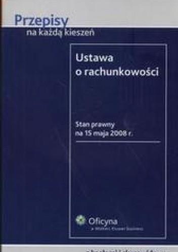 Okładka książki Ustawa o rachunkowości /Przepisy na każdą kieszeń