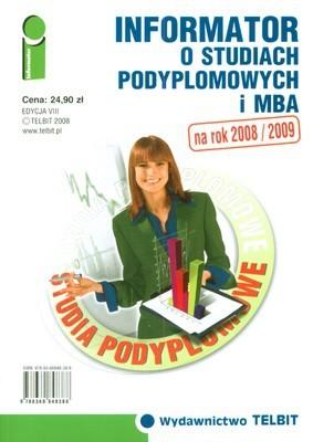 Okładka książki Informator o studiach podyplomowych i mba na rok 2008/2009