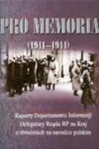 Okładka książki Pro Memoria (1941-1944)