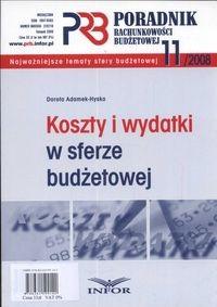 Okładka książki Koszty i wydatki w sferze budżetowej