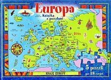 Okładka książki Europa. Książka z puzzlami
