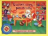 Okładka książki świąteczne prezenty. Trójwymiarowe obrazki