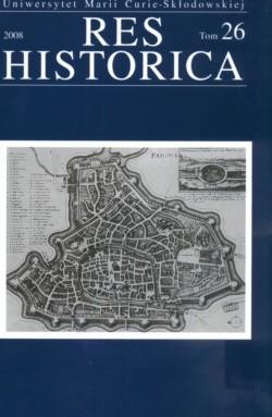 Okładka książki Res Historica Tom 26