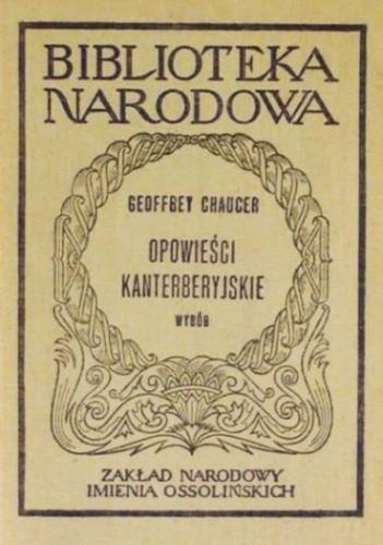 Okładka książki Opowieści kanterberyjskie. Wybór