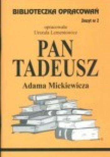 Okładka książki 'Pan Tadeusz' Adama Mickiewicza
