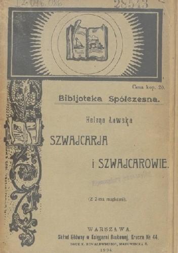 Okładka książki Szwajcarja i Szwajcarowie