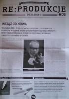 Re:produkcje:studencka gazeta festiwalowa, 26.10.2013