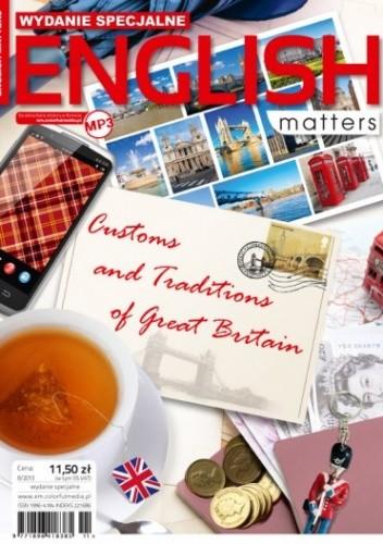 Okładka książki English Matters: Customs and Traditions of Great Britain, 8/2013 (Wydanie specjalne)
