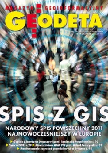 Okładka książki Geodeta. Magazyn geoinformacyjny, nr 5 (192)/2011