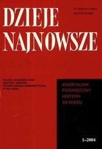 Okładka książki Dzieje najnowsze 1 - 2004