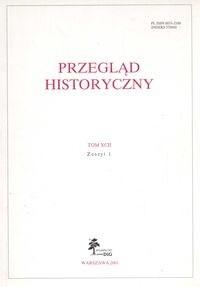 Okładka książki Przegląd Historyczny rok 2001 nr 1 Tom XCII